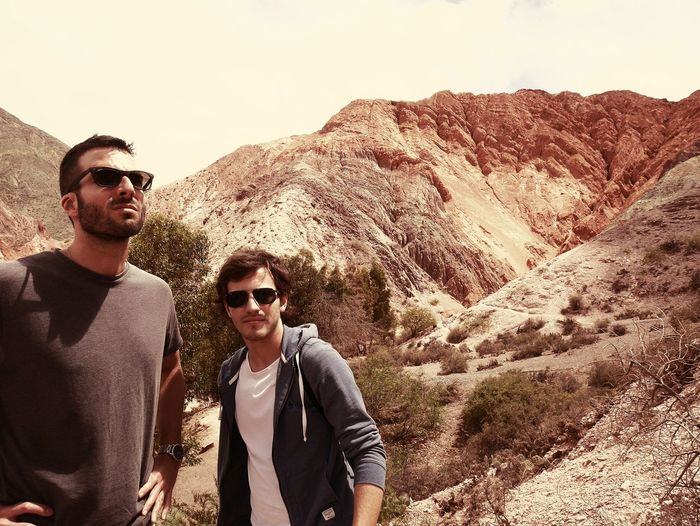 Men Friendship Friends Rocky Mountains Boho Geology Arid Landscape Arid Climate Natural Landmark Canyon Rock Formation Hiker