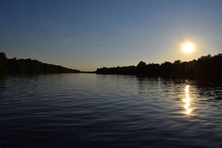 Alabama Alabama River Beauty In Nature Reflection Sun Sunset Tranquil Scene Water Waterfront The Great Outdoors - 2016 EyeEm Awards Alabama River At Pintlala Creek Water Reflections Alabama Fishing Alabama Outdoors
