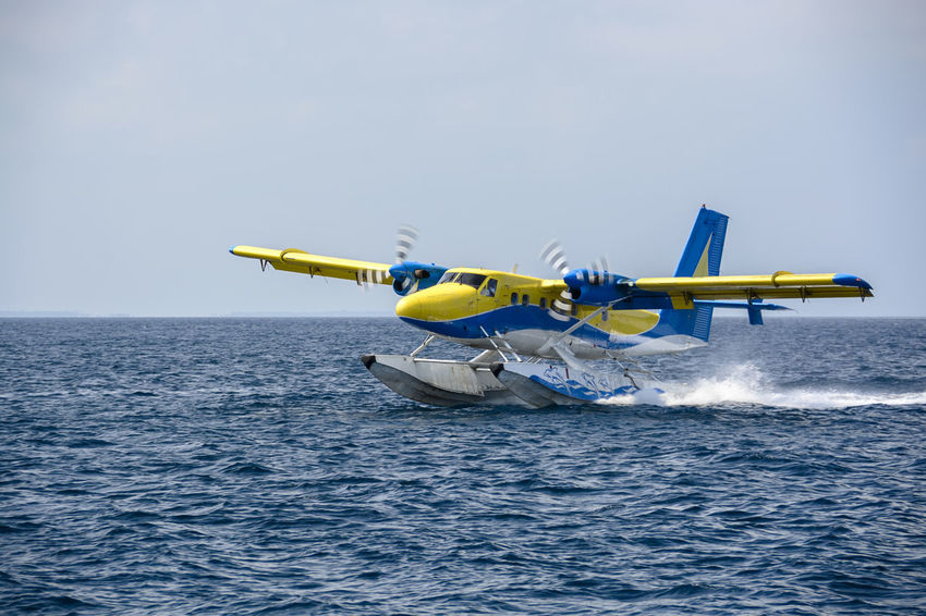 Air Vehicle Airshow Day Maldives Military No People Outdoors Sea Plane Sky Transportation