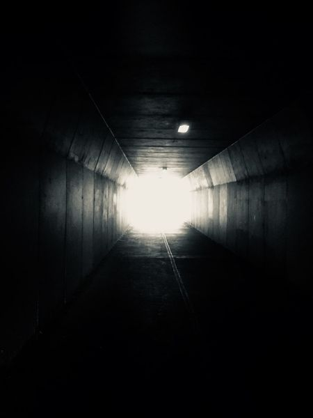 Light at the end of the tunnel The Way Forward Light At The End Of The Tunnel Illuminated Tunnel No People Built Structure Architecture Day