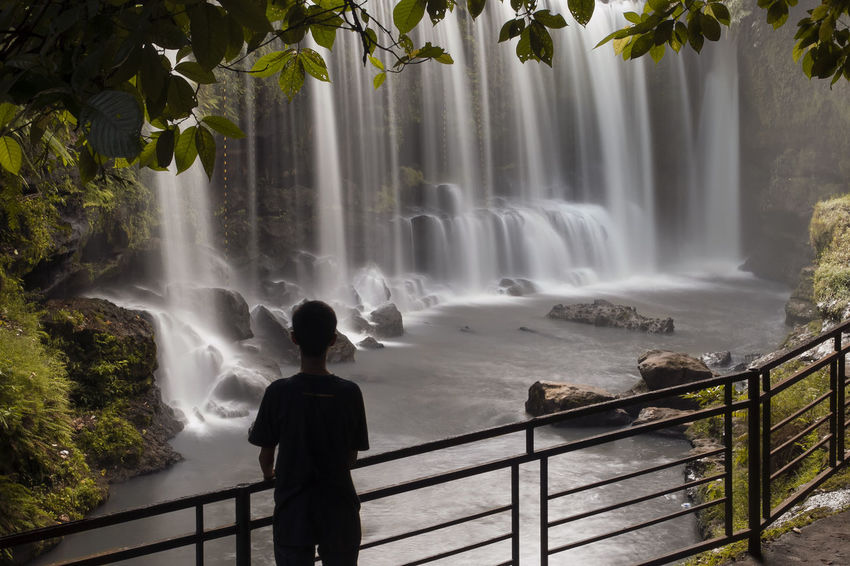 waterfall My Son ❤ Waterfall Landscape Slowspeed River Slowspeedphotography Shillouette Waterfall Water Beauty One Person People Scenics Fog Nature Outdoors #FREIHEITBERLIN