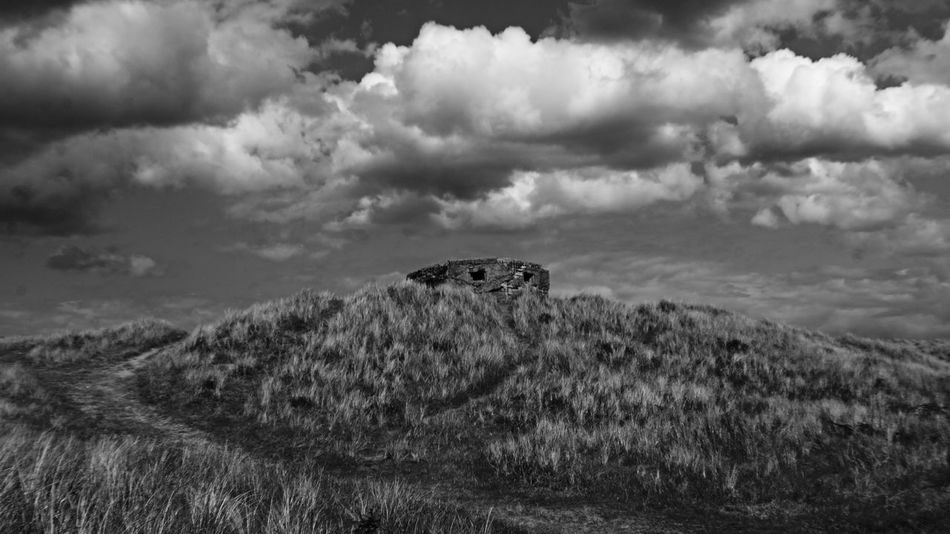 Black And White Clouds Du East Coast UK Hiking Pillboxes Land And Sky Norfolk PILLBOX