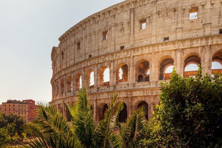 Colosseum against clear sky
