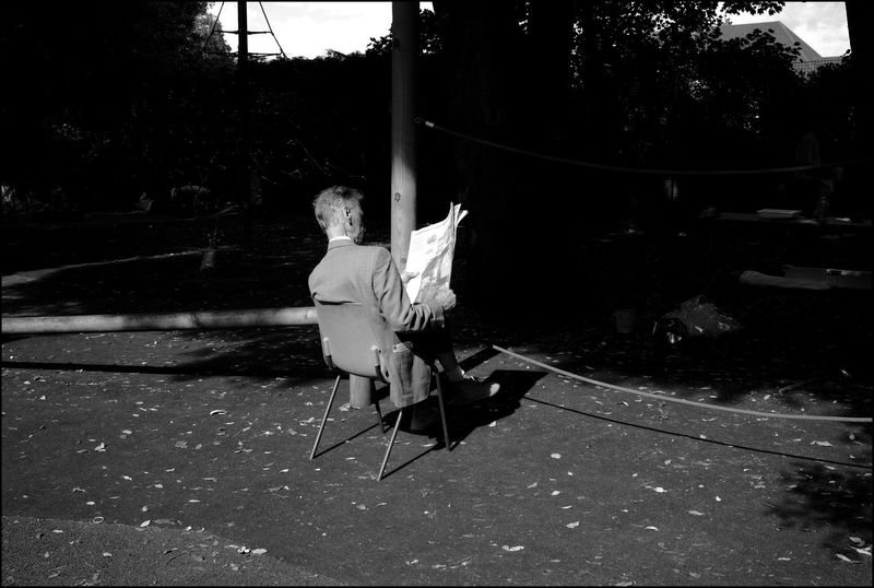 A quiet man reading. Anti Social Light And Shadow Monochrome Privacy Solitude