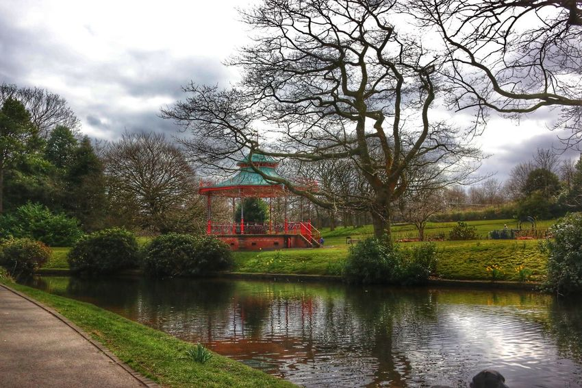 Band Stand Sefton Park Water Reflections