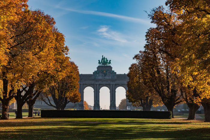 The Parc du Cinquantenaire/Jubelpark Arch Architecture Autumn Autumn Colors Autumn Leaves Belgium Brussels Built Structure Famous Place History Jubelpark Low Angle View Monument Outdoors Parc Du Cinquantenaire Park Travel Destinations Trees Triumphal Arch
