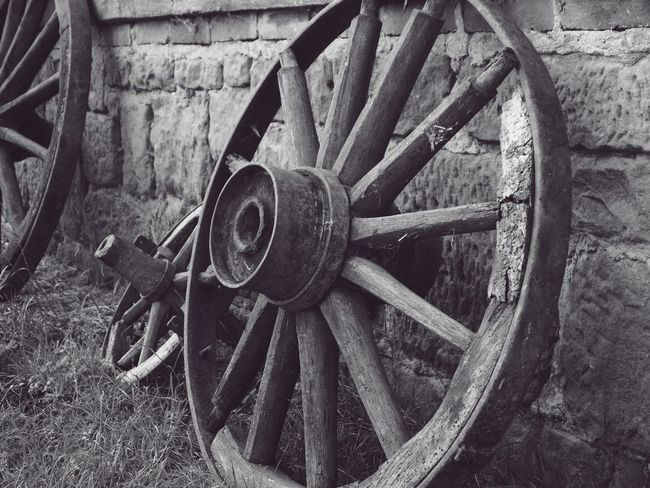 Abandoned Cart Circle Close-up Day Deterioration Field Geometric Shape Metal Mode Of Transportation No People Obsolete Old Outdoors Run-down Spoke Transportation Wagon Wheel Wall - Building Feature Wheel Wood - Material