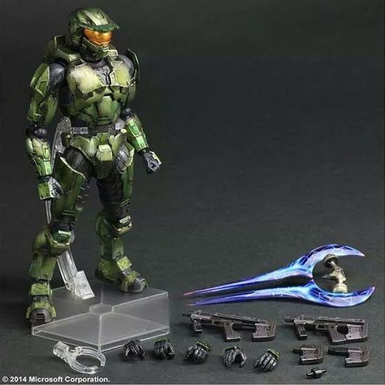 "New PREORDER Mastet Chief, based off the Halo 2 Anniversary Edition game is now available to preorder at Bigbadtoystore ! He stands at 11"" and comes with everything you see here. This fig will set you back $99.99 and is due to release in February 2015. For more details or to order yours now check out the link in my profile. -T4E"