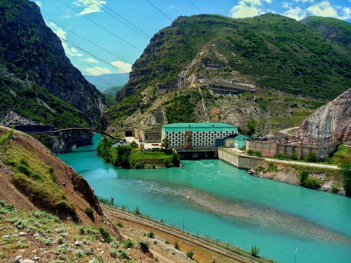Сулакский каньон, Дагестан. Water Day Outdoors Architecture No People Nature Tree Beauty In Nature Sky Mountain Tranquil Scene Blue Tranquility UnderSea Nature Dagestan Travel Destinations Canyon Blue Color Landscape River LeEco LeTv X600