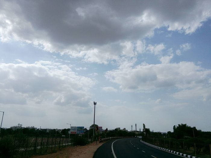 Sky And Clouds ,trees ,road ,tower ,summer,afternoon First Eyeem Photo