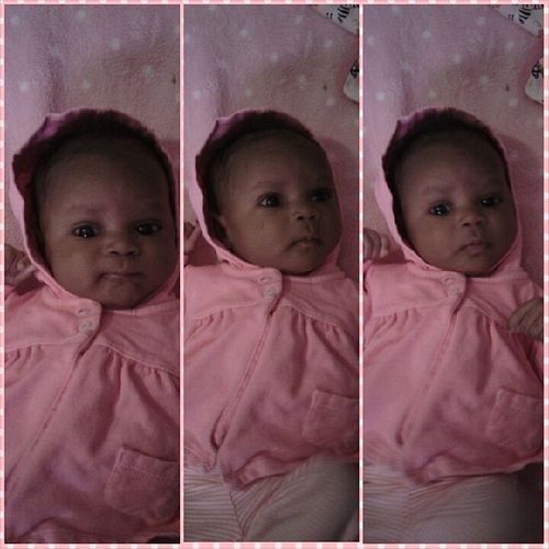 Each Baby Is Pretty As A Pearl , Buh NONE Is As Pretty As My Baby Girl ! KayleeNicole 7weeksold