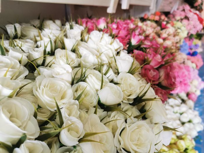 Close-up of white flower bouquet