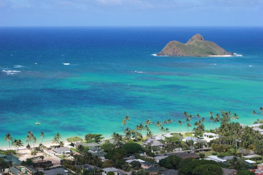 Lanikai  Horizon Over Water Sea Water Hawaii Aloha Oahu Oahu Hawaii Oahuphotography PILLBOX Pillbox Hike Oahu Beaches Perspectives On Nature