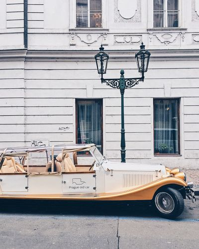 Prague No People Transportation Outdoors Day Mode Of Transport Building Exterior Built Structure Architecture Old-fashioned Colour Your Horizn