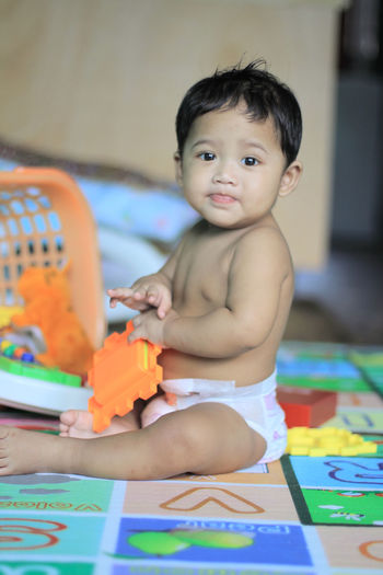 Cute Baby Boy Playing