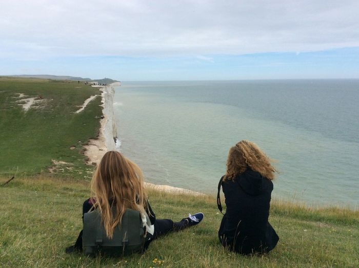 One Of The Most Beautiful Place Ever, Nature & People in National Park South Downs ... Seven Sisters Cliffs , London , Great Britain