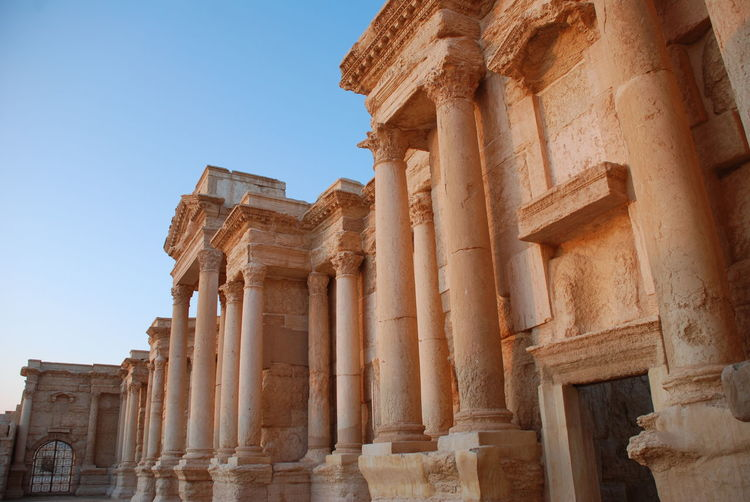 Ancient Civilization Ancient History Archaeology Architectural Column Architecture Built Structure Cultures History No People Old Ruin Palmyra Palmyra Ruins Roman Stage Roman Theater Syria  Travel Travel Destinations
