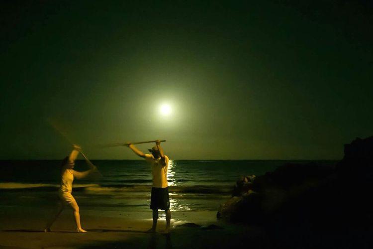 Sport Experience Sea And Sky Canary Islands Canariasviva Canary Islands Paradise Tradition Juego Del Garrote Nightphotography Friends