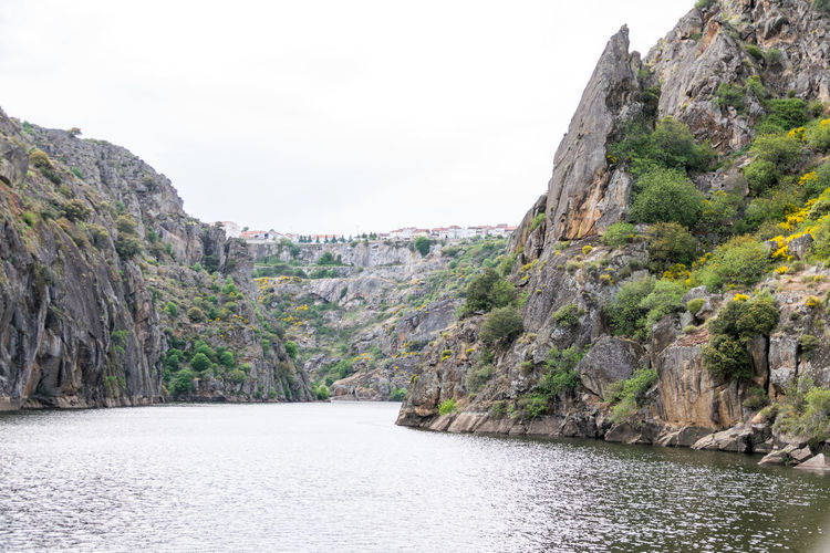 The selvage nature. Beauty In Nature Cliff Day Mountain Nature No People Outdoors Physical Geography Rock - Object Rock Face Rock Formation Scenics Sky Steep Tranquility