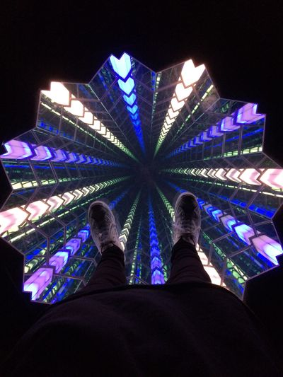 Skyspace First Eyeem Photo POV First Person View Shoes Sneakers Jack Purcell Art Discovery Colors Colorful Color Design Designs Museum Person Feet Feetselfie View Unknown Gender Modern Standing Artistic Tall - High Infinity