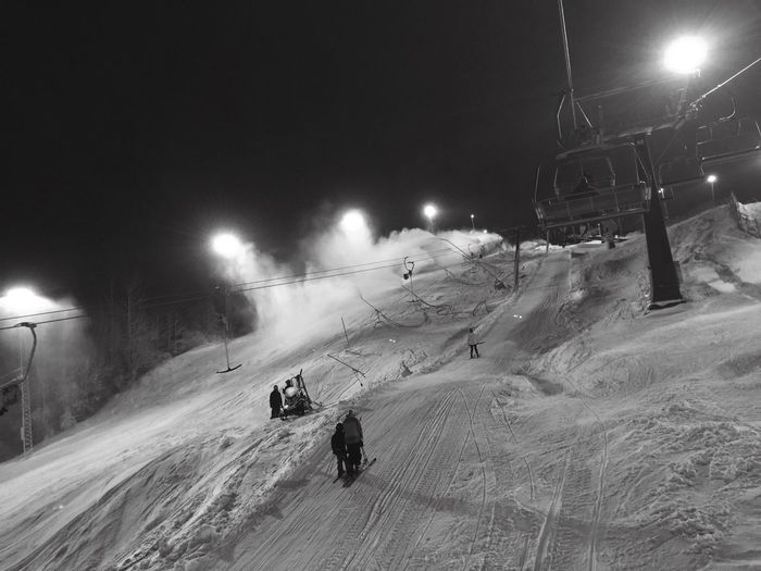Snow Winter Skiing Flottsbro Huddinge Sweden Night Happy Enjoying Life IPhoneography