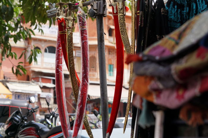 EyeEm Selects Swordscollection Swords Retail  Hanging Day No People Outdoors Close-up Travel Destinations Jaipur Tourist Place Enjoy The Little Things Getty Images Jaipur Rajasthan Happiness Vacations Travel Heat - Temperature Summer Cityscape Scenics Hanging Multi Colored Traditional Architecture