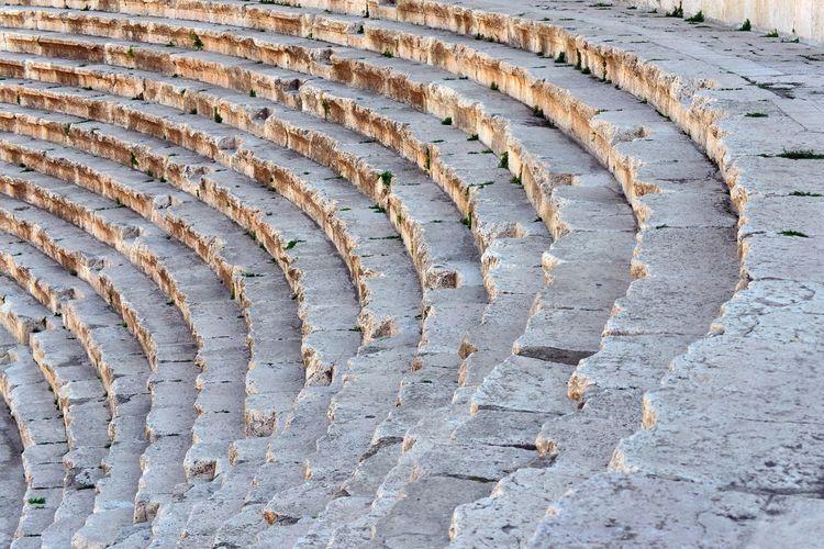 Old ruin roman amphitheater