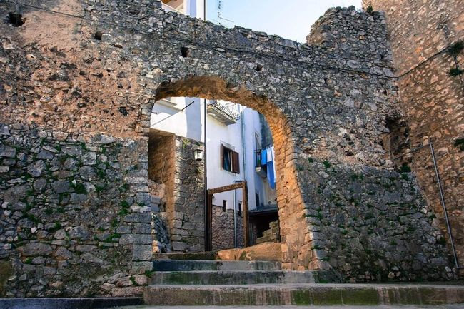 Gargano Italy Gargano City History Day Sky Clear Sky Building Exterior No People Built Structure Tranquility Low Angle View Architecture Nature Vacations Gargano Coast Canon700D