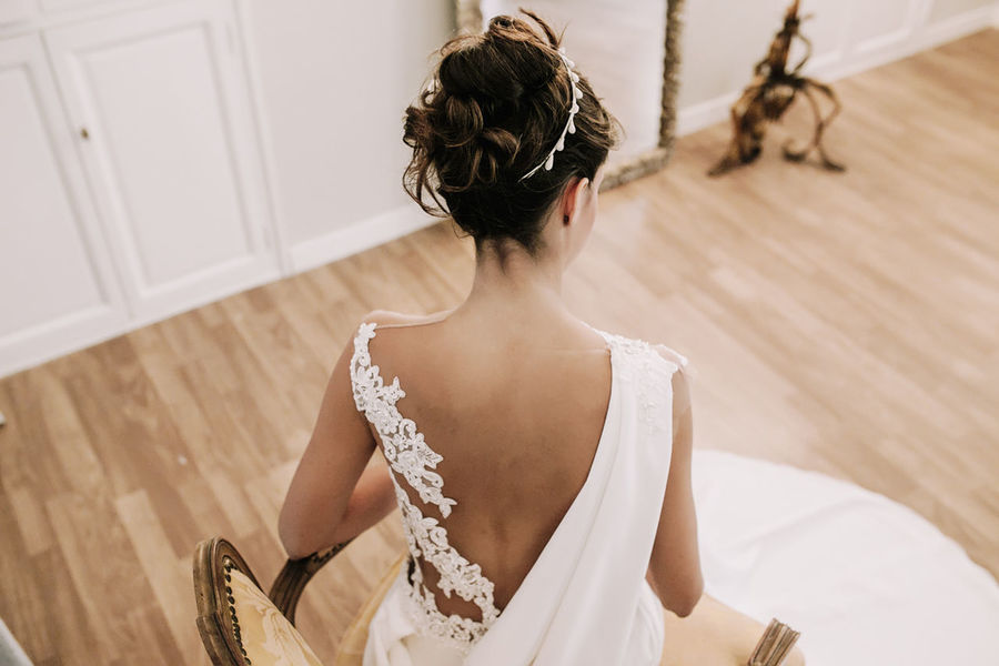 Adult Adults Only Brown Hair Day Hair Bun Indoors  One Person One Woman Only Only Women People Period Costume Real People Rear View We Wedding Wedding Day Wedding Dress Wedding Party Wedding Photography Wedding Photos Weddingday  Weddingphotographer Weddingphotography Weddings Weddings Around The World