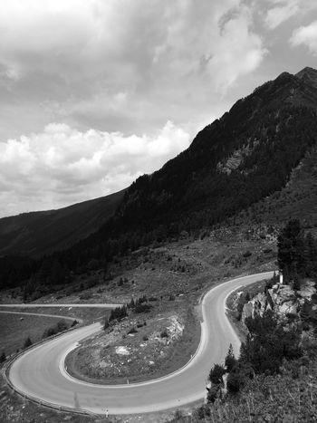 Alpine roads are the best Cloud - Sky Winding Road Mountain Landscape Curve Nature Beauty In Nature The Street Photographer - 2017 EyeEm Awards