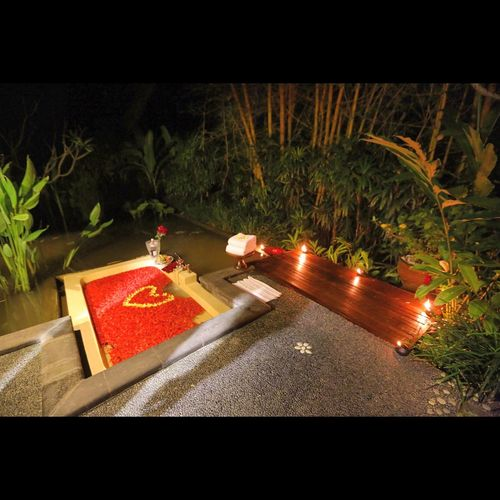 Bali Honeymoon Illuminated Love Red Resort Roses Spa Tranquility Villa