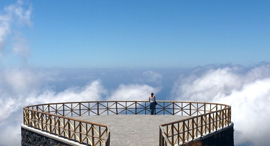 Standing White Blue Sky Day Cloud Outdoors Beauty In Nature Nature Vacations Tranquil Scene Over the clouds