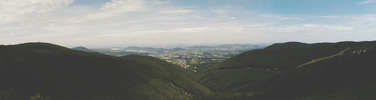 Czech Republic🇨🇿 Beskydy First Eyeem Photo Nature Mountain Tree Sky Outdoors Day Grass No People Cloud Sun Sunnyday☀️