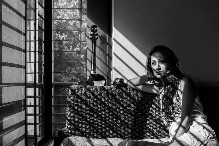 Lifescape Self Portrait Canon 5D Mark II Canon Mood Sunshine Blackandwhite Photography EyeEm Gallery Eyeem Open Edit Guitar Shadows Moments Monochrome 2016 EyeEm Team Self Selfie ✌ Portrait Light And Shadow Photography Woman Portrait Woman Showcase June