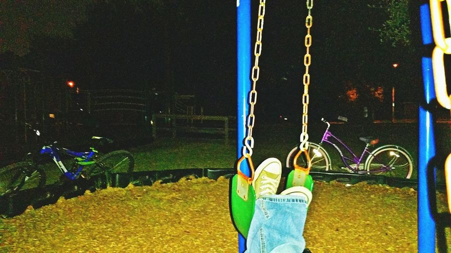 Parks at night.
