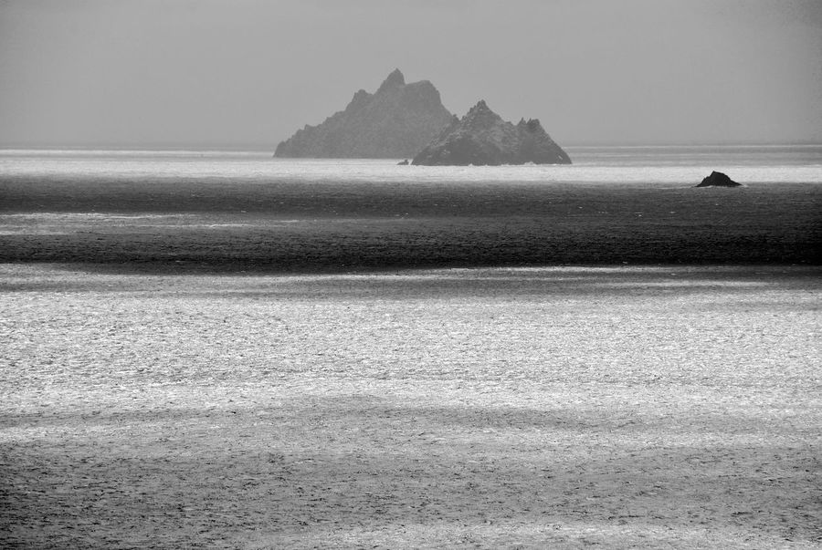 Skellig Michael Atlantic Ocean Black & White Ireland Beauty In Nature Black And White Day Distant View Farview Island Nature No People Ocean Outdoors Scenics Sea Skellig Islands Skelligmichael Sky Tranquility Water Black And White Friday