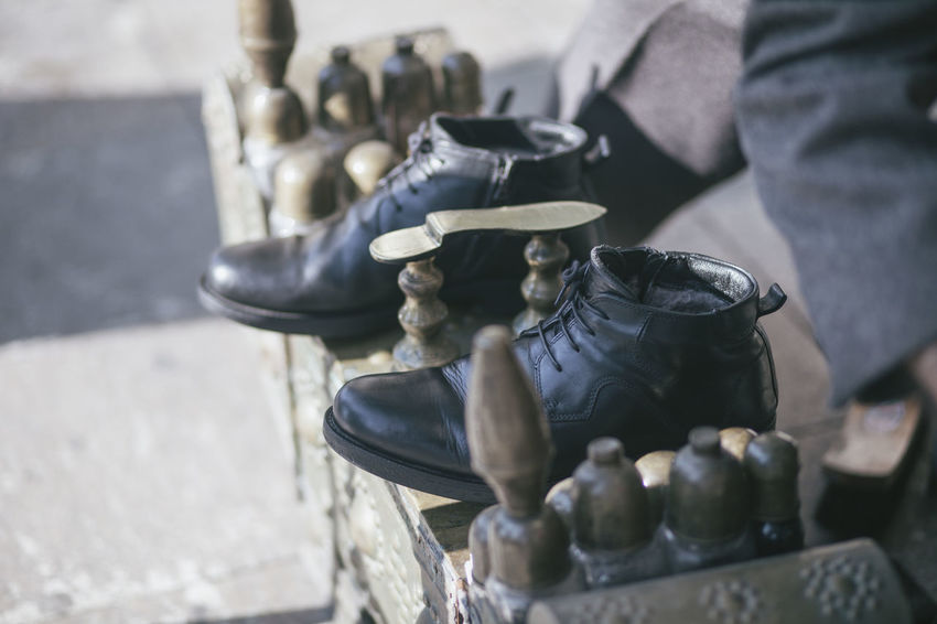 Boot Bootblack Clean Cleaning Details Shoe Shoes Work Working