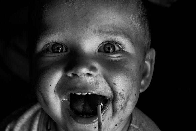 A boy Child Childhood Portrait Headshot Baby Young Looking At Camera Front View Innocence Cute One Person Close-up Men Lifestyles Indoors  Males  Mouth Open Real People Babyhood Emotion My Best Photo