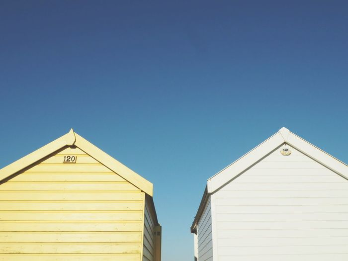 Beach Huts Summer Simple Photography Minimalism Minimalist Blue Sky Sunshine Pastel Power Pastel Colors Light Colors Colour Of Life TakeoverContrast
