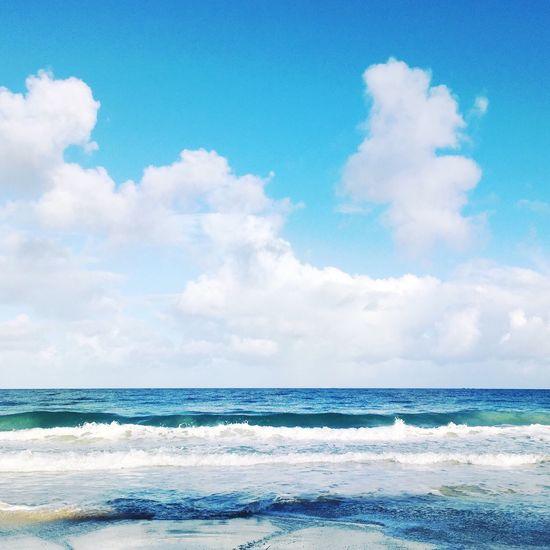 Blue Ocean Sea Sea And Sky Beach Water Peace Tranquil