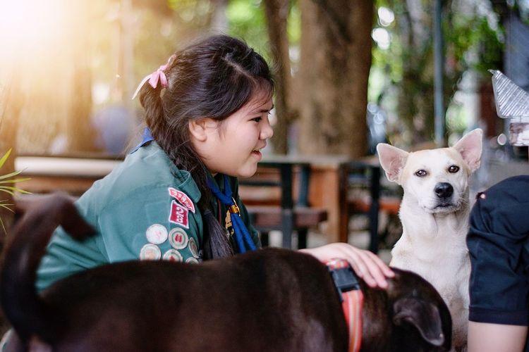 EyeEm Selects Friendship Pets Child Animal Hospital Childhood Dog Vet  Smiling Bonding Happiness