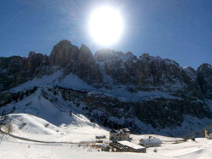 Montagne delle Dolomiti (2) Dolomites, Italy Snow Mountain Winter Sport Sunlight Clear Sky Skiing Ski Holiday