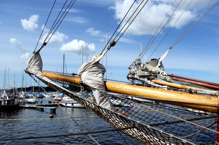 Blue Cloud Cloud - Sky Cloudy Day Hanse Sail Mast Mecklenburg-Vorpommern Nature Nautical Vessel No People Outdoors Rostock Sky Tourism Travel Destinations
