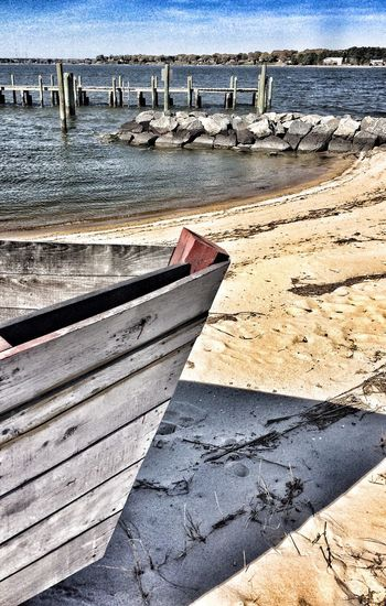 Boat beached on the riverside iPhone photo Yorktown, VA