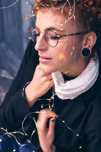 Beautiful Woman Close-up Day Eyeglasses  Human Hand Leisure Activity Lifestyles One Person Outdoors Real People Women Young Adult Young Women