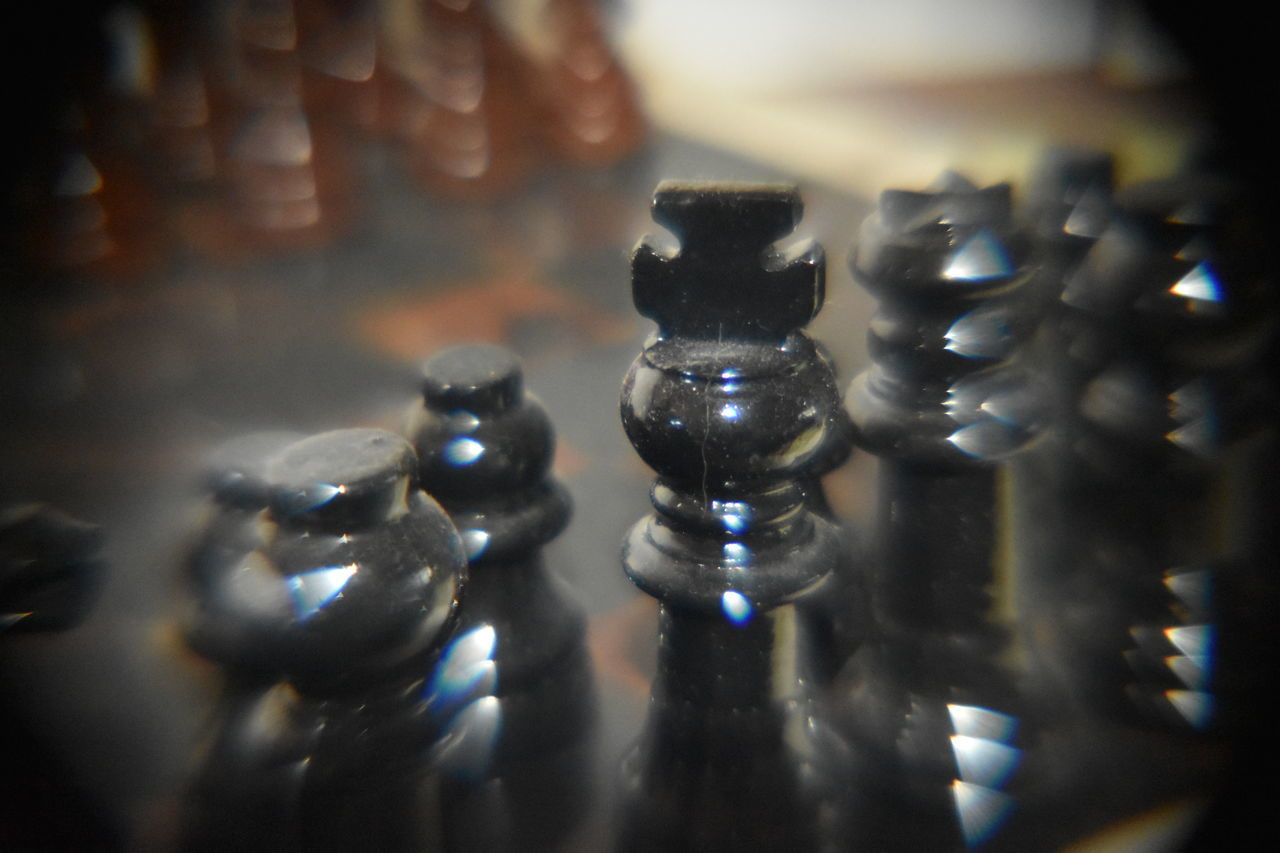 indoors, no people, close-up, strategy, chess piece, chess, knight - chess piece, day, queen - chess piece