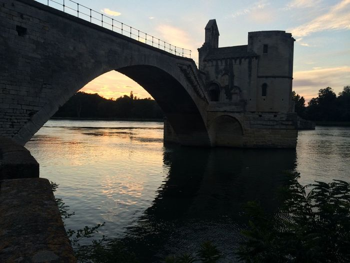 Cities At Night Bridge Sunset Sunset_collection Night Night Photography in Avignon France Avignon City