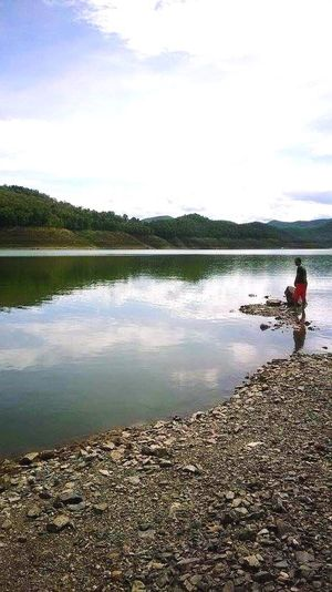 Peace And Quiet Water One Person Reflection One Man Only Day Lonely Place