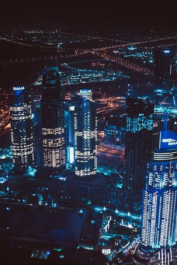 Futuristic Dubai by night City Dubai Futuristic Internet City Night Lights Skyline By Night Architecture Building Building Exterior Built Structure City City By Night City From Above City Life City Lights Cityscape Digital Digital City Digital World Future Futurism Illuminated Modern Night Skyscraper