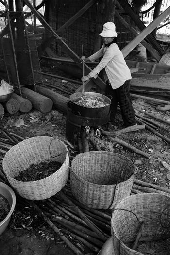 International Women's Day 2019 Container Occupation Men Basket Working One Person Real People Day Food Hat Food And Drink Business Asian Style Conical Hat Large Group Of Objects Market Adult Freshness Wood - Material Nature Outdoors Preparation  Farmer